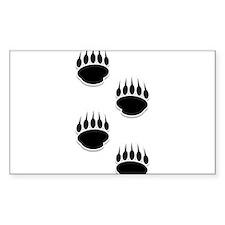 Black Bear Paw Prints Decal