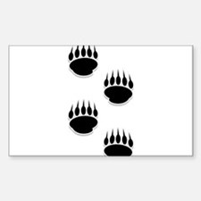 Black Bear Paw Prints Decal