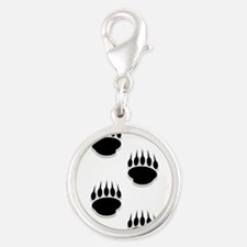 Black Bear Paw Prints Charms