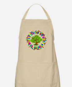 tree surrounded by hundreds of people.png Apron