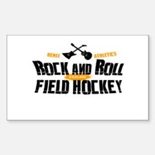 Rock and Roll Field Hockey Rectangle Decal