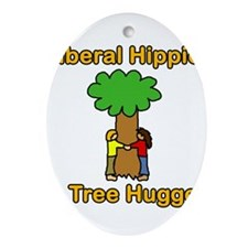 liberal hippie tree hugger Ornament (Oval)