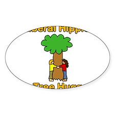 liberal hippie tree hugger Decal