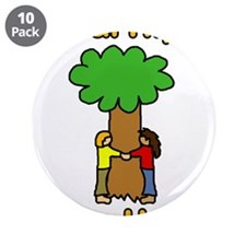 "liberal hippie tree hugger 3.5"" Button (10 pack)"