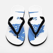 blue save a tree Flip Flops