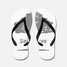 save a tree grey Flip Flops