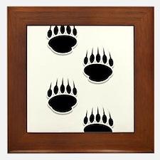 Unique Black bear Framed Tile