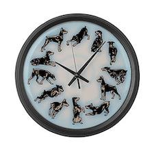 Doberman Pinscher Large Wall Clock