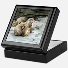 snow monkeys Keepsake Box
