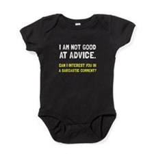 Advice Sarcastic Comment Baby Bodysuit