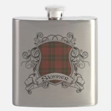 Skinner Tartan Shield Flask