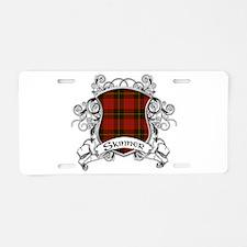 Skinner Tartan Shield Aluminum License Plate