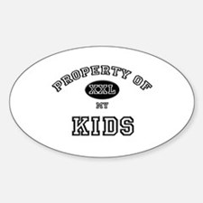 Property of my KIDS Oval Decal