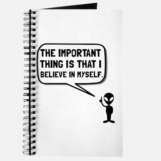 Alien Believe In Myself Journal