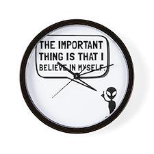 Alien Believe In Myself Wall Clock