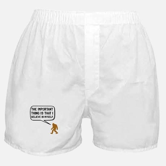 Bigfoot Believe In Myself Boxer Shorts