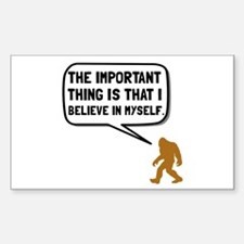 Bigfoot Believe In Myself Decal