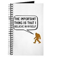 Bigfoot Believe In Myself Journal