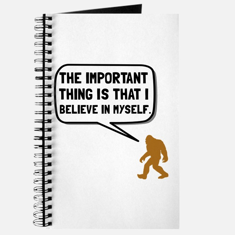 Bigfoot Believe In Myself Journal