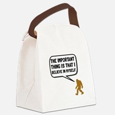 Bigfoot Believe In Myself Canvas Lunch Bag