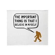 Bigfoot Believe In Myself Throw Blanket
