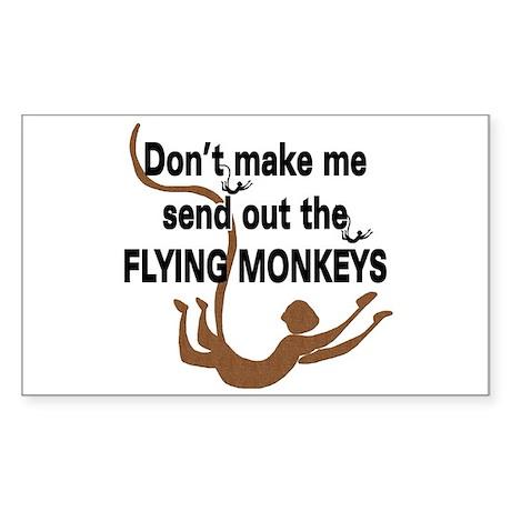 Flying Monkeys Sticker (Rect.)