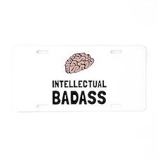 Intellectual Badass Aluminum License Plate