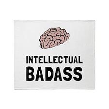 Intellectual Badass Throw Blanket