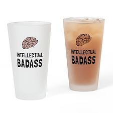 Intellectual Badass Drinking Glass