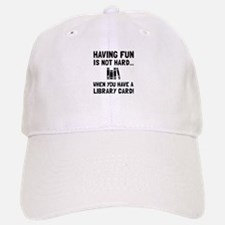 Library Card Fun Baseball Baseball Baseball Cap