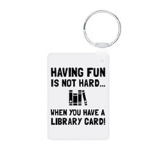 Library Card Fun Keychains