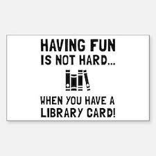 Library Card Fun Decal