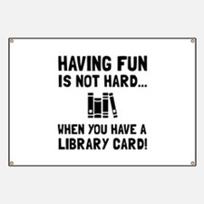 Library Card Fun Banner