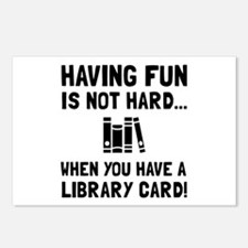 Library Card Fun Postcards (Package of 8)