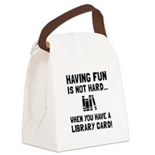 Library Card Fun Canvas Lunch Bag