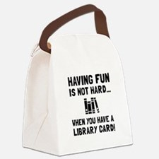 Library Card Fun Canvas Lunch Bag