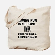 Library Card Fun Tote Bag