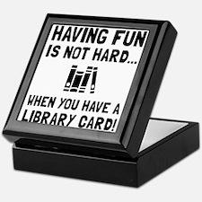 Library Card Fun Keepsake Box
