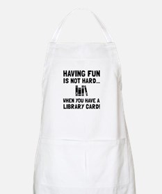 Library Card Fun Apron