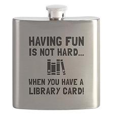 Library Card Fun Flask