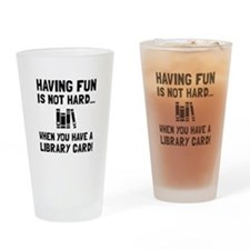 Library Card Fun Drinking Glass