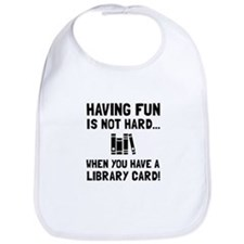 Library Card Fun Bib