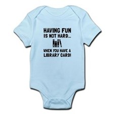 Library Card Fun Body Suit