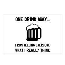One Drink Away Postcards (Package of 8)