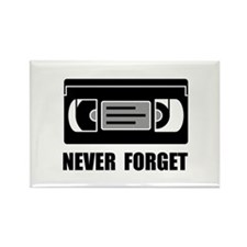 VCR Tape Never Forget Magnets
