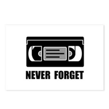 VCR Tape Never Forget Postcards (Package of 8)