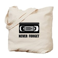 VCR Tape Never Forget Tote Bag