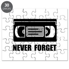 VCR Tape Never Forget Puzzle