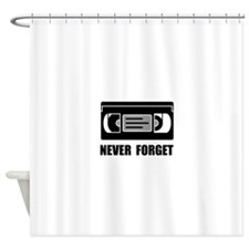 VCR Tape Never Forget Shower Curtain