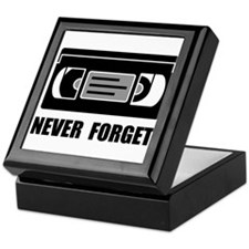 VCR Tape Never Forget Keepsake Box
